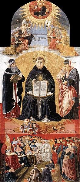 law Saint Thomas Aquinas Plato Aristotle Gozzoli